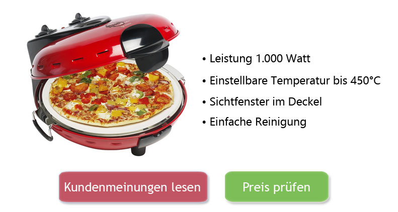 Bestron Pizzaofen Test